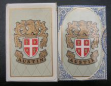 Vintage Collectible Advertising playing cards  Austin Motor cars